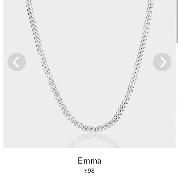 "Aureum Collective Emma Cuban Chain 18.5"" Silver"